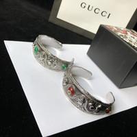china smaragd schmuck großhandel-Designer Armband Tiger Head Snake Armband GARDEN Armband Emerald Jewelry 925 Sterling Silber 2019 Luxus Mode Accessoires