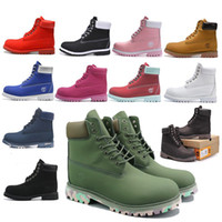 Wholesale green army boots for sale - Group buy top quality Original Timberland boots designer luxury boots for mens winter boots womens Military Triple White Black Camo size