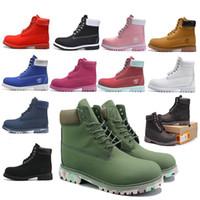 zapatillas de running impermeables para mujer. al por mayor-Zapatos Timberland originales de 6 pulgadas Zapatos para montañismo Zapatos deportivos para correr para hombres, mujeres Zapatillas de deporte Zapatillas de deporte impermeables con caja 27C