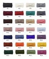 ingrosso fasce di signora-28styles Bowknot autunno inverno Hairbands Turbanti a mano Knit Bow Lady dello scaldino dell'orecchio di Headwrap solida larga parte fascia regalo di favore CYF2981