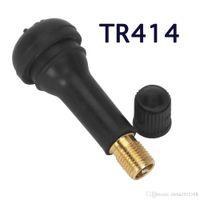 Wholesale car parts auto accessories resale online - Black Rubber TR414 Snap in Car Wheel Tyre Tubeless Tire Tyre Valve Stems Dust Caps Wheels Tires Parts Car Auto Accessories