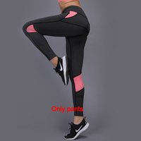 Wholesale yoga pants high for sale - Group buy 2019 Women Yoga Running Outdoor Sport Elastic Exercise High Waist Leggings Gym Fitness Slim Capri Pants Trousers