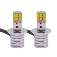 cree led ersatz glühbirnen großhandel-2 Stück High Power H3 LED Ersatzlampen für Auto Nebelscheinwerfer, Tagfahrlicht, Lampen DRL weiß mit Cree-Chips