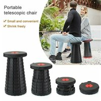 Wholesale folding camp chair stool for sale - Group buy Portable Folding Stool Seat Retractable Plastic Outdoor Picnic Beach Chair Styles Telescopic Stool For Hiking Camping Fishing