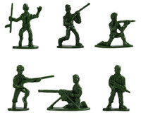 Wholesale toy military soldiers online - 300 set Military Plastic Soldier Model Toys Army Men Figures Playset Toys Decor Gift For Children Kids Soldier Model Toys Action Figurin
