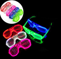 Wholesale New Arrival LED Luminous Flash Glasses Shutter Eyeglass Disco Bar Cool Light Party Supplies Children s Flash Toys