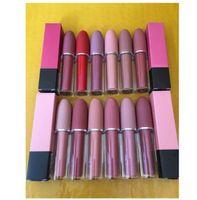 Wholesale new makeup lip gloss resale online - New Hot sale Makeup Matte Lip Gloss Matte Liquid Lipstick Lips Lip Gloss colors Good quality DHL Free Ship