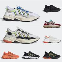 sapatos pretos de andar homens venda por atacado-2020 adidas ozweego homens mulheres sapatos casuais 3 M reflexivo triplo preto Nuvem branco Solar Vermelho Neon Verde orgulho mens trainer tênis respiráveis