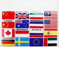 Wholesale mirror flags resale online - 8 CM Quality metal China Flag Car sticker D Motorcycle Car Emblem Badge Logo Decal Stickers Car Styling Sticker Accessories QP022