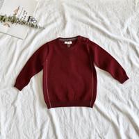 jungen pullover verkauf großhandel-Heiße Verkaufs-Baby-Jungen Pullover Baby-Strickpullover Herbst und Frühling New Todder Pullover Pullover Kinder Kleidung Hemd grundiert