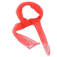 pañuelos rojos lisos al por mayor-Encantador llano cuadrado de gasa cuello bufanda Cabeza bufandas 70 cm x 70 cm (rojo sandía)