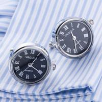 relógio da máquina venda por atacado-Chegada nova Relógio Real Abotoaduras VAGULA Relógios de Punho Com Bateria tourbill Núcleo Da Máquina Mecânica Gemelos D19011004