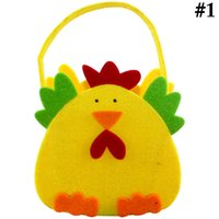 Wholesale easter candy eggs for sale - Group buy Easter Bag Cute Chick Pattern Portable Candy Bag Non Woven Egg Pocket Tote Bags Party Gift Bags For Children