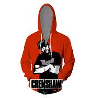 ingrosso vestiti stampati 3d-Hiphop nipsey hussle Rap 3D Felpe Abbigliamento Uomo Cardigan Stampato Zipper Up Casual Adolescente di Skateboard Felpe Souvenir