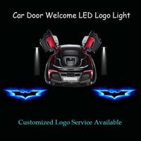 luz de sombra de laser de porta de carro venda por atacado-Gzhengtong 2 x Porta de Carro escuro Blue Knight Batman Logo projetor laser Fantasma Luz LED Sombra