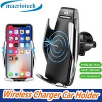Wholesale cell phone charge holder for sale – best For iPhone Xs Max Samsung S10 Wireless Cell Phone Chargers Automatic Clamping fast charging cup phone holder mount