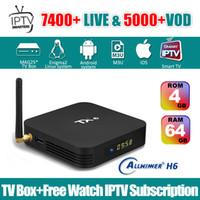 observa o canal venda por atacado-4G64G TX6 Android 9.0 caixa de tv tem 1 ano livre abonnement serviço de IPTV EUA Italia Canadá França Latino Portugal Sports canal livre assistindo