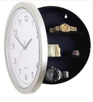 Wholesale wall clock safes resale online - Hidden Secret Wall Clock Safe Money Stash Jewellery Container Box Strongbox Digital living room Wall Clock Clocks Home Decor
