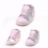 polka dot säugling weichen schuhe großhandel-Infant Baby Mädchen Kleinkind Kinder Krippe Schuhe Polka Dot rutschfeste Weiche Sohle Schnüren Schuh Krippe Schuhe
