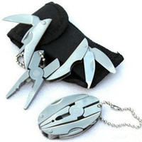 chaves dobradas venda por atacado-Multifunção Ferramenta Alicates chaveiro exterior Desporto Portátil Forma Mini Multitool Gadgets Tortoise Folding Tongs Chaveiro LJJZ482