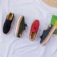 sapatos folk mulheres venda por atacado-2020 Mulheres Running Shoes Navy Dark Red de Split All-jogo folk-personalizado Moda Womens instrutor respirável malha Esporte Sneaker frete grátis