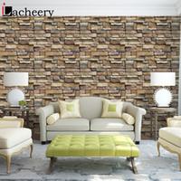 ingrosso divano moderno diy-2M fai da te autoadesivo mattone carta da parati moderna soggiorno TV divano sfondo decorazioni per la casa decalcomanie in vinile impermeabile carta di contatto