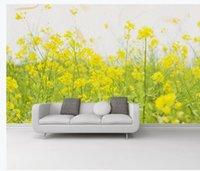 oturma odası minimalist duvar kağıdı toptan satış-duvarlar için duvar kağıdı oturma odası Modern minimalist küçük taze tecavüz çiçekleri için 3 d açık bahçe wal