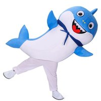 Wholesale movie star baby resale online - 2019 Factory direct sale Baby Shark Mascot Costume Cartoon Character Birthday Party Carnival Festival Fancy Dress Adult Outfit