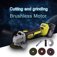 Wholesale brushless motor set for sale - Group buy Angle Grinder Cordless Cutting Grinding Polishing Derusting Repair Brushless Magnetic Motor Power Tools Sets For Wood Metal Cut