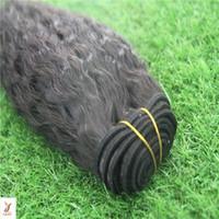 Wholesale yavida for sale - Group buy Puer Black Color Yavida Kinky Straight Hair Extensions Human Hair Weave Bundles Malaysian Virgin Hair Bundle Non Remy Inchs