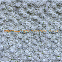 Wholesale flower wall decorations 3d for sale - Group buy 3D Artificial flower wall panel white rose wedding wedding supplies home decorations