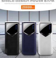 ingrosso batteria per tablet di samsung-2019 Nuovo 20000 mAh Powerbank Ricarica rapida 18650 Batteria Display a 4 batterie Display Flash Light Doppia ricarica USB per tablet Samsung IPX