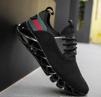 bıçak yükseltme toptan satış-Sıcak yükseltme sürümü 2.0 V erkek uçan dokuma spor ayakkabı Açık nefes giyilebilir rahat ayakkabılar Patlayıcı bıçak sneakers Ücretsiz gemi