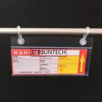 Wholesale plastic rack price resale online - 300pcs PVC Plastic Price Tag Label Display Holder Promotion Clips Hanging Buckle on Mesh Rack Basket Shelf