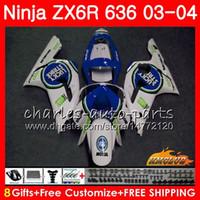 Wholesale lucky fairing resale online - Kit For KAWASAKI NINJA ZX600 ZX lucky blue hot ZX6R NO ZX R ZX R CC ZX ZX R ZX636 ABS Fairing
