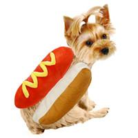 veste de vêtements achat en gros de-Animaux de Pâques Hot Dog Gilet Hamburger Sans Manches Vêtement Chien Kitty Garder Au Chaud Gilet Dessin Animé Drôle Costume Vente Chaude 18tbC1