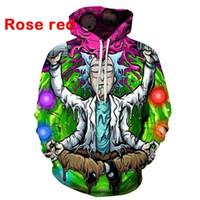 hoodies dos homens print print venda por atacado-Qualidade agradável Novo Rick e Morty hoodies camisolas 3D Impressão unisex moletom com capuz homens / mulheres roupas Ypf195