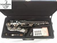 juncos para saxa venda por atacado-Qualidade Alto Saxofone Yanagisawa A-992 E-Flat Preto Sax Alto Bocal Da Ligadura Reed Pescoço Instrumento Musical Frete grátis