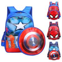 çocuk kitapları toptan satış-3D 3-6 Yaşındaki Okul Çantaları Erkek Sırt Çantaları Çocuk Spiderman Kitap çantası Çocuklar Için Omuz Çantası Satchel Sırt Çantası