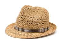 chapéu de sol mulheres venda por atacado-INFINITLOVE Summer Fashion Handmade Women's Beach Boho Fedora Straw Hat Sun hat Men Sunhat Men Jazz Hat Gangster Cap (One Size:58cm) ps0125