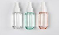 ücretsiz parfüm şişeleri toptan satış-BPA Free 40ml 60ml Losyonu Sprey Şişe Güneş kremi Aromaterapi Toner Temizleyici PET Plastik İnce Mist Atomizer Parfüm Uçucu Yağlar Flakon