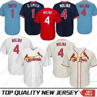 b4376deca70 Cosido 4 Yadier Molina St. Louis Cardinals Béisbol Jersey 1 Ozzie Smith 25  Dexter Fowler Jerseys
