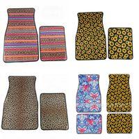 sonnenblumen-klassiker großhandel-Sunflower Car Mat Fuß Teppiche Neopren 2 Stück pro Set Rutschfeste Blumenfarben Mix Fashion 31dy F1