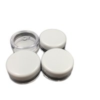 Wholesale screw lid plastic containers for sale - Group buy White Lid ML PS Cream Jar Mini Cosmetic Cream Sample bottle Container Display Case Cosmetic Packaging g Mini plastic bottle