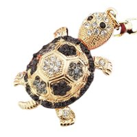Wholesale turtles keychain resale online - 4 Colors Little Crystal Turtle Keychain Animal Key Chain Women Jewelry Accessories Bag Pendant Key Ring