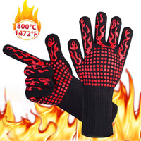 Wholesale gloves cooking resale online - 500 Celsius Heat Resistant Gloves Great For Oven BBQ Baking Cooking Mitts In Insulated Silicone BBQ Gloves Kitchen Tastry Tools
