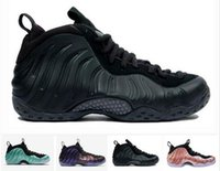 Wholesale foam shoes for men resale online - new penny hardaway mens basketball shoes for men Sports sneakers Foam One Eggplant Purple foams Night Maroon Gum chaussures trainers size