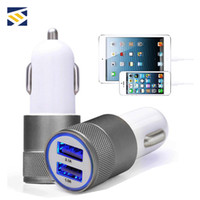Wholesale dual car charger iphone 5s for sale – best Metal Car Charger Newest Design Dual USB car chargers Portable Travel Rapid Chargers Auto Adapter for Apple iPhone Plus S S
