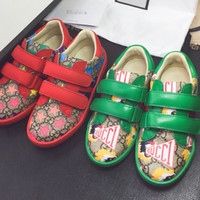 Wholesale boys shoe sizing resale online - Toddlers Shoes Designer Kids Sneakers Genuine Leather Toddler Boys Shoes High Quality Desinger childrens Sneakers Toddlery Girls Footwear