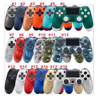 joystick-spielcontroller großhandel-18 Farben erhältlich Bluetooth 4.0 Wireless Controller für PS4 Vibration Joystick Gamepad PS4 Gamecontroller für Sony Play Station 4